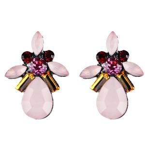 Water Drop Fake Gem Crystal Earrings