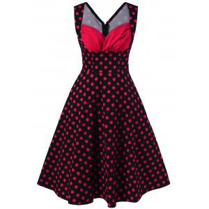 Sweetheart Neck Polka Dot Dress