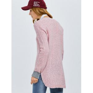 Color Block Chunky Knit Sweater -