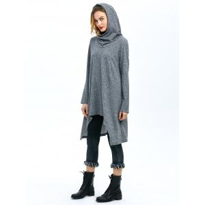 High Low Hem Hooded Coat -