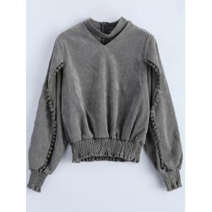 Choker Smocked Oversized Sweatshirt