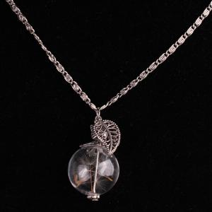 Glass Ball Dandelion Necklace