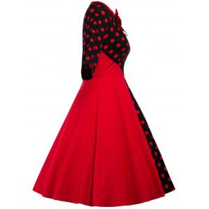 Polka Dot Retro Fit and Flare Dress -