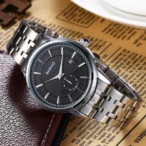 Stainless Steel Analog Watch - BLACK