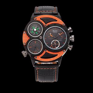 Big Dial Watch with PU Leather Watchband