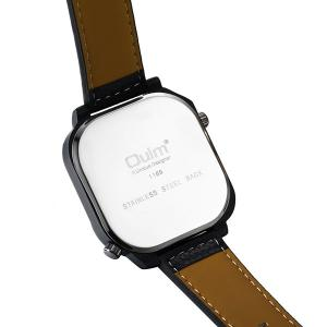Analog Quartz Watch with Artificial Leather Watchband - WHITE