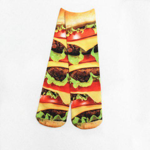 Trendy Meat Hamburg 3D Printed Crazy Socks