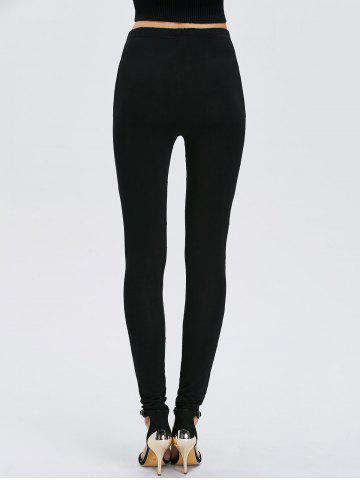 Hot Faux Leather Bodycon Leggings - ONE SIZE BLACK Mobile