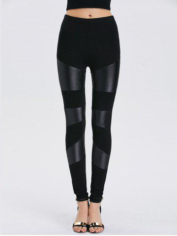 Store Faux Leather Bodycon Leggings BLACK ONE SIZE