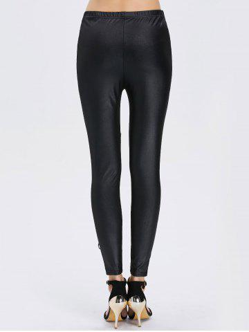 Shops Lace See-Through Bodycon Leggings - ONE SIZE BLACK Mobile