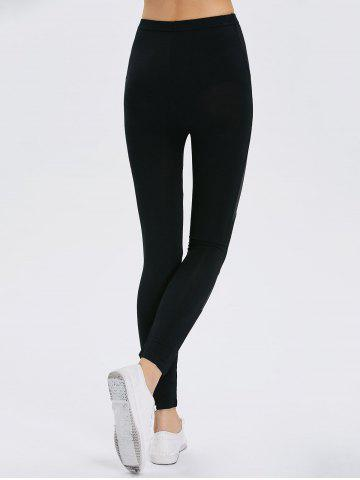 Outfits Bodycon Faux Leather Leggings - ONE SIZE BLACK Mobile