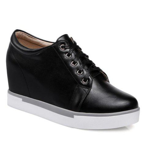 Shops Hidden Wedge PU Leather Athletic Shoes