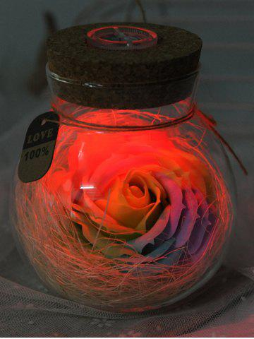 New Colorful Light Rose Soap Festival Gift Wishing Bottle - BRIGHT YELLOW  Mobile