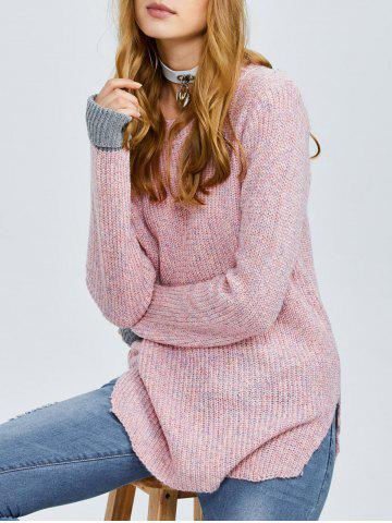 Fancy Color Block Chunky Knit Sweater