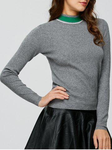 Trendy High Neck Sweater