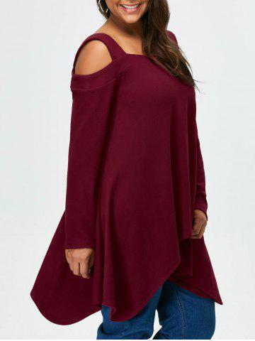 Outfit Plus Size Cold Shoulder Asymmetrical Tee