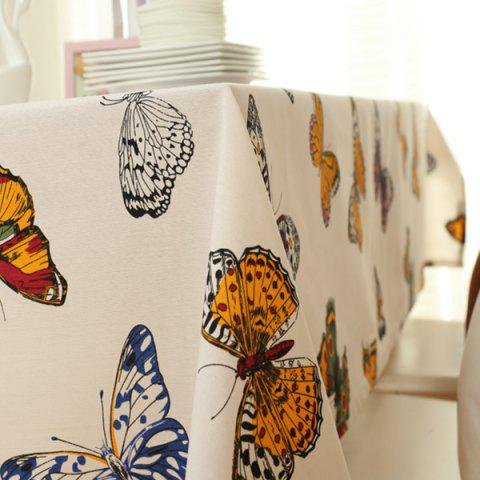 Fashion Butterfly Print Polyester Fabric Kitchen Table Linen - 140*100CM COLORMIX Mobile