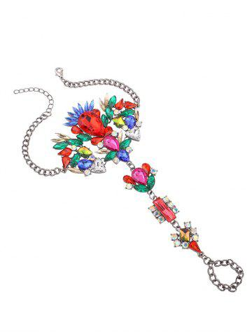 Outfit Metal Rhinestone Statement Slave Hippie Anklet - COLORFUL  Mobile