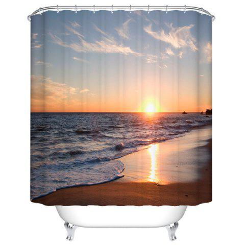 Affordable Thicken Sea Sunset Polyester Waterproof Bath Shower Curtain - 180CM*180CM COLORMIX Mobile
