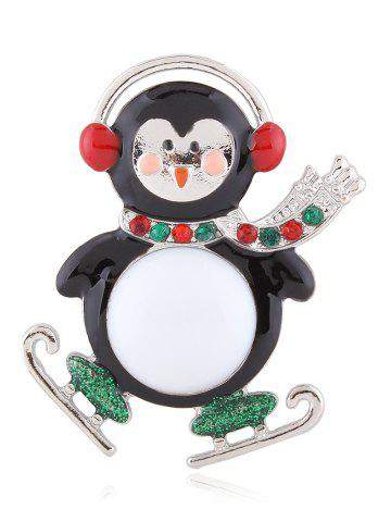 Buy Enamel Rhinestone Cute Monkey Brooch - SILVER  Mobile