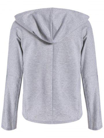Shops Plunging Lace-Up Hoodie - XL GRAY Mobile