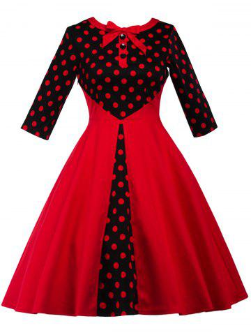 Outfits Polka Dot Retro Fit and Flare Dress