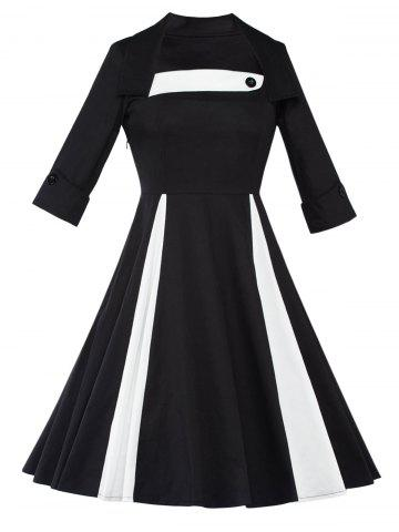 Outfits Long Sleeve Fit and Flare Swing Vintage Dress
