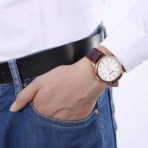 Best Vintage Artificial Leather Analog Watch - BROWN  Mobile