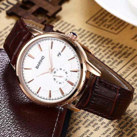 Sale Vintage Artificial Leather Analog Watch - BROWN  Mobile