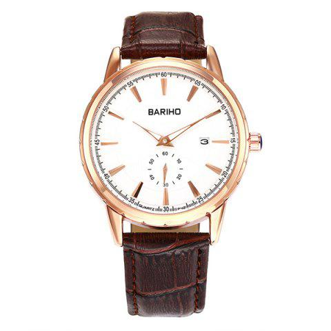 New Vintage Artificial Leather Analog Watch - BROWN  Mobile