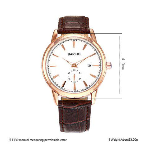 Discount Vintage Artificial Leather Analog Watch - BROWN  Mobile