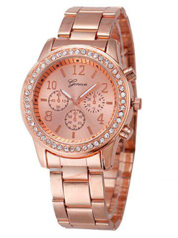 Shop Rhinestone Metal Analog Wrist Watch