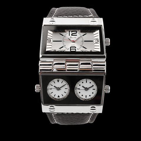 Shops Quartz Watch with PU Leather Watchband WHITE