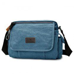 Flap Canvas Messenger Bag