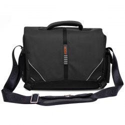Top Handle Nylon Shoulder Bag - BLACK