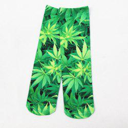Hemp Leaf 3D Printed Crazy Socks