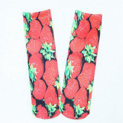 Strawberry 3D Printed Crazy Socks - RED
