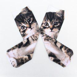 Little Cat 3D Printed Crazy Socks