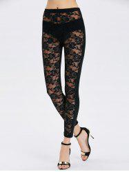 See-Through Lace Bodycon Leggings
