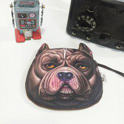 Plush Insert 3D Dog Print Coin Purse