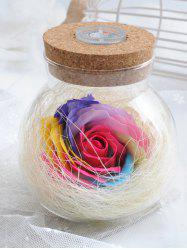 Colorful Light Rose Soap Festival Gift Wishing Bottle - TUTTI FRUTTI
