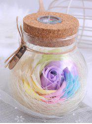 Colorful Light Rose Soap Festival Gift Wishing Bottle - LIGHT PURPLE