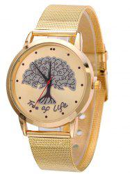 Mesh Band Tree of Life Analog Watch