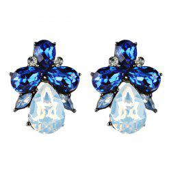 Artificial Crystal Water Drop Shape Earrings -