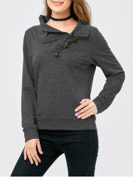 Horn Button Sweatshirt