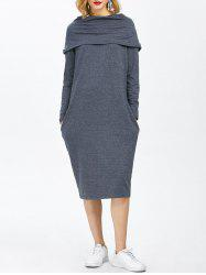 Midi Straight Hoodie Dress