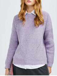 Crew Neck Ribbed Chunky Sweater -