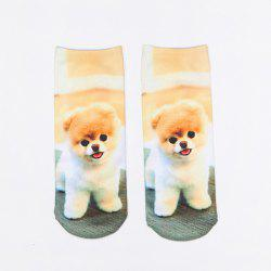 Little Pomeranian 3D Printed Crazy Socks
