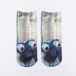 Wear Exaggerated Glasses Dog 3D Printed Crazy Socks