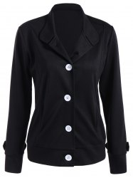 Button Slimming Fitted Jacket